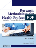 RC Goyal - Research Methodology for Health Professionals