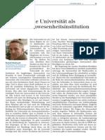 Die Universitat Als Anwesenheitsinstitution