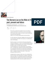 Wired - 2014 - Tim Berners-Lee on the Web at 25 the Past , Present and Future