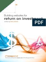 Building Websites for Return on Investment