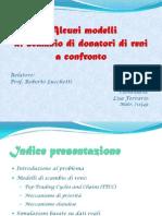 Presentazione - Alcuni Modelli Di Scambio Di Reni a Confronto