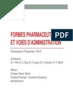 Formes Pharma Et Voies d Administration IFSI 2013