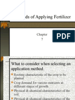 Methods of Applying Fertilizer