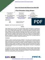 Paper Flow Simulation Using Abaqus 2010 F