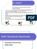 math standards awareness