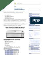(Download) Canon PIXMA MP250 Driver - Free Printer Driver DownloadFree Printer Driver Download.pdf