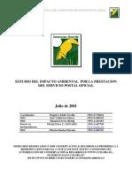 Estudio de Impacto Ambiental Correos Del Ecuador 2001