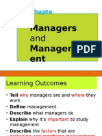 Topic 1 Managers and Management