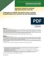 Utilization of Ultrasonic Method to Evaluate Properties of Concrete