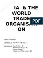 India & the World Trade Organisati On