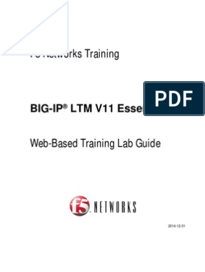 F5 BIG-IP LTM Essentials WBT Lab Guide v11 | World Wide Web