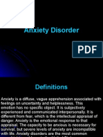 Nursing Care of Patients With Anxiaty Disorder