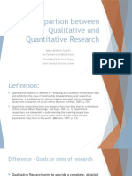 Comparison Between Qualitative and Quantitative Research