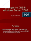 Changes to DNS