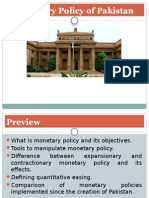 Monetary Policy of Pakistan