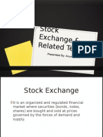 Stock Exchange & Related Terms & Financial Derivatives