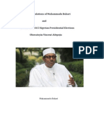 The Calculations of Muhammadu Buhari and APC for the 2015 Nigerian Presidential Election
