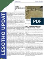 Lesotho Update Winter 2009-2010