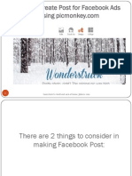How to Create Post for Facebook Ads using picmonkey