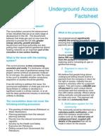 Underground drilling factsheet May 2014