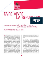 """Rapport """"Sécurité et lutte contre le terrorisme"""""""
