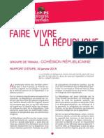 Rapport «Cohésion républicaine»