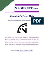 Valentines Day Hate