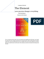 The Element by Ken Robinson Summary