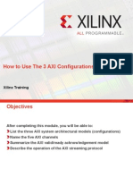 How to Use the 3 Axi Configurations
