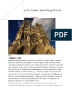 Topul Celor Mai Frumoase Catedrale Gotice Din Lume