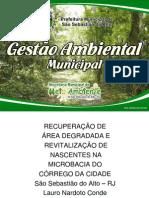 Recuperação de Área Degradada e Revitalização de Nascentes na Microbacia do Córrego da Cidade