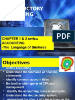 Introductory Acctg - Review Chap 1, 2