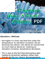 Presentation - Factors Affecting Climate