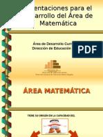 Matemática - Enfoque de Enseñanza.