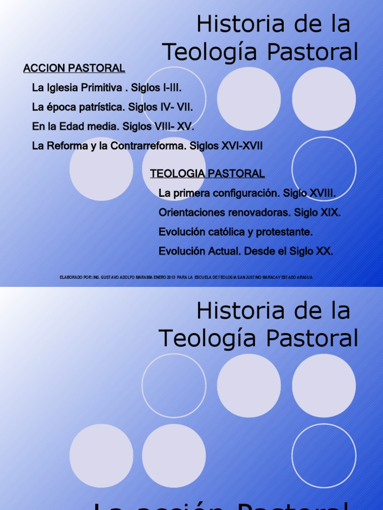 Clase 03 2013 Evolucion Historica De La Teologia Pastoral