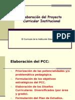 PCI - Elaboración Del Proyecto Curricular Institucional