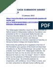 Yellapragada Subbarow Award Presented Imp