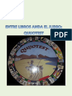 """Proyecto Aula-Biblioteca sobre El Quijote """"Entre Libros Anda El Juego. Quijotest"""""""