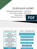Penyelesaian Audit