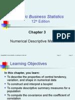 Chapter 3:Numerical Descriptive Measures