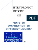 Evaporation Chemistry Project Report