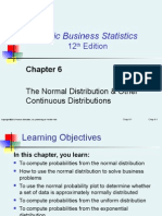 Chapter 6:The Normal Distribution & Other Continuous Distributions