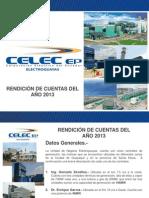 Rendicion de Cuentas 2013 - Celec Ep Electroguayas (Feb 2014)