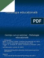Introducere in Psihologia Educationala