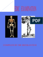 Orthopaedic Examination of a Patient