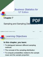 Chapter 7:Sampling and Sampling Distributions