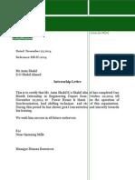 Internship Letter Format