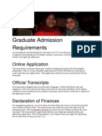 Grads Requirement Details