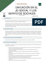 La comunicación en el trabajo social