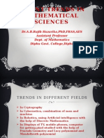 Drabrh Recent Trends in Mathematical Sciences